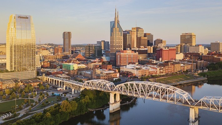 Cumberland river view from Nashville