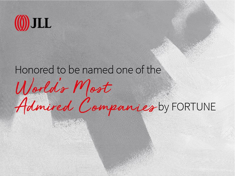 JLL makes FORTUNE's 2019 World's Most Admired list