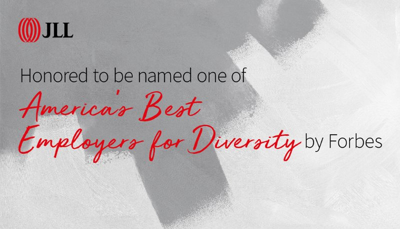 JLL named one of America's Best Employers for Diversity by Forbes