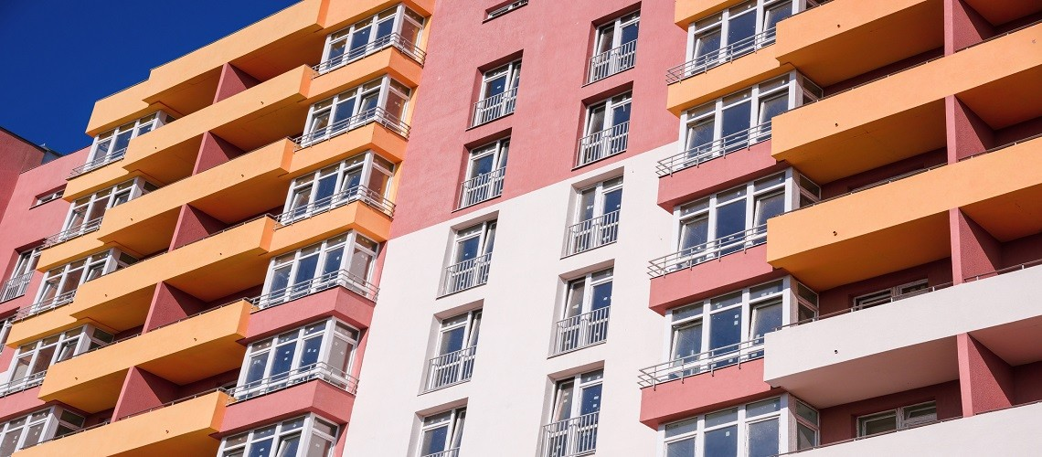 pink and orange residential building
