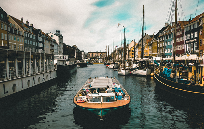 A waterway in Copenhagen