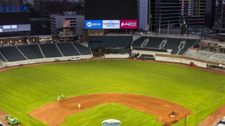 Atlanta Braves stadium areial view