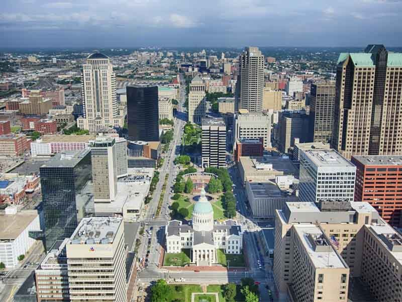 Aerial view of State of Missouri