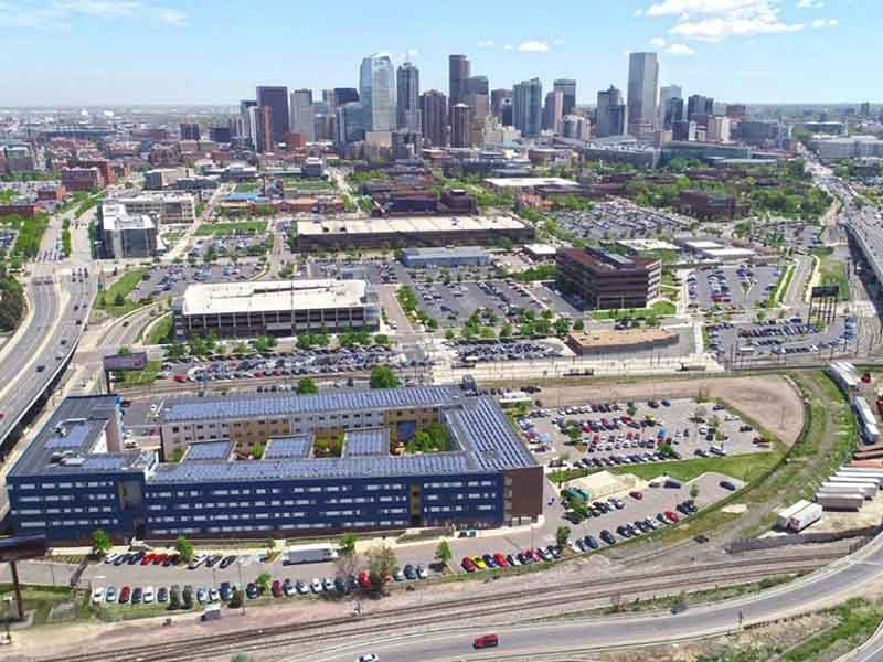 Aerial view of University of Colorado-Denver