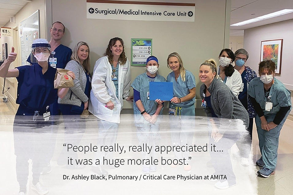 people really, really appreciated it... it was a huge morale boost dr. ashley black