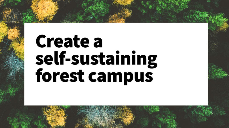What if a real estate company could create a self-sustaining forest campus