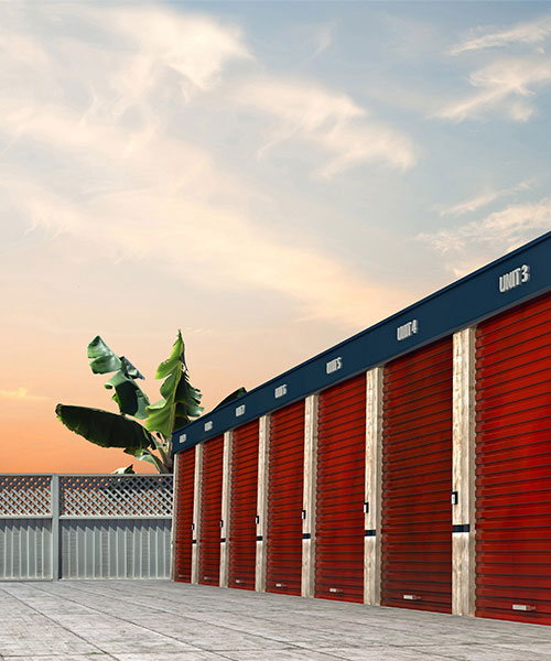Storage facility closed by shutters