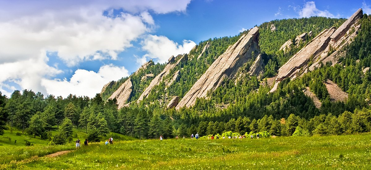 Flatirons in Boulder Colorado