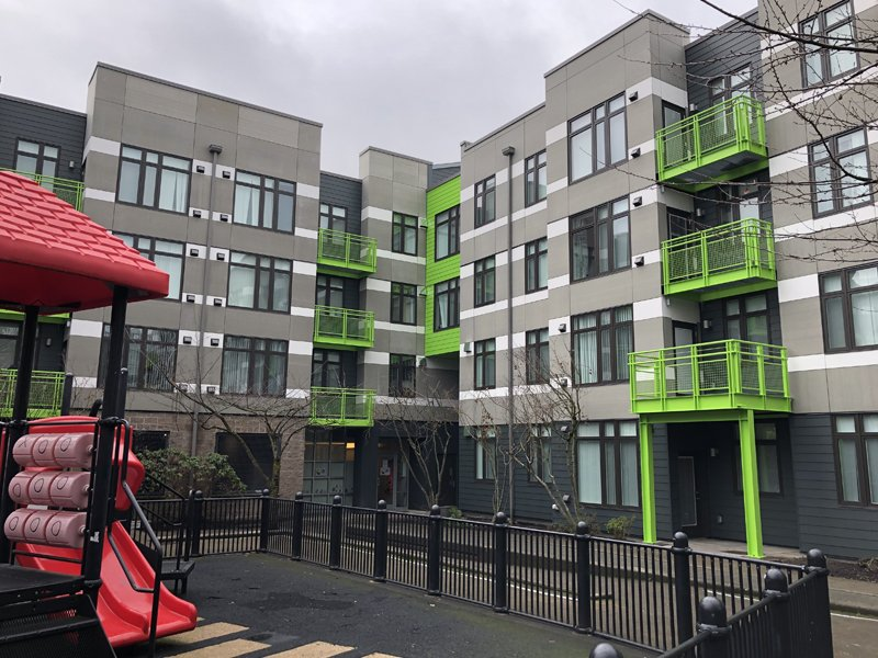Center Village Apartments affordable housing community in Portland, Oregon