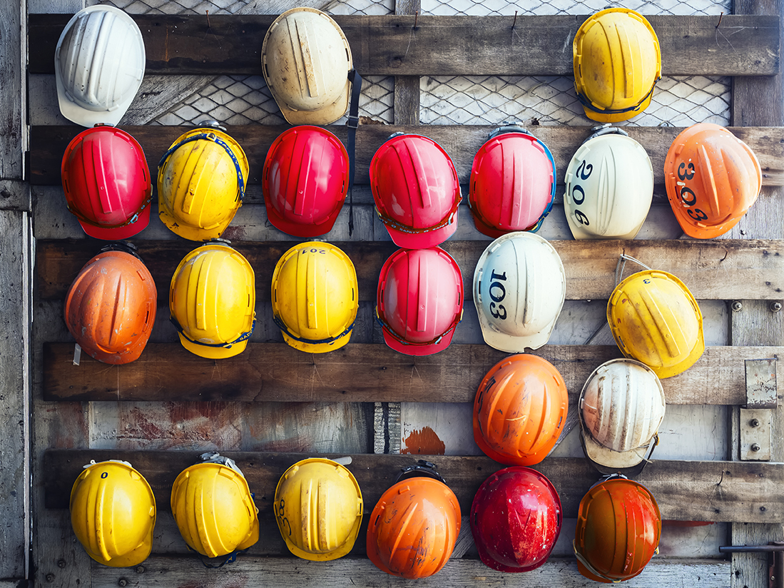 Work safety helmets