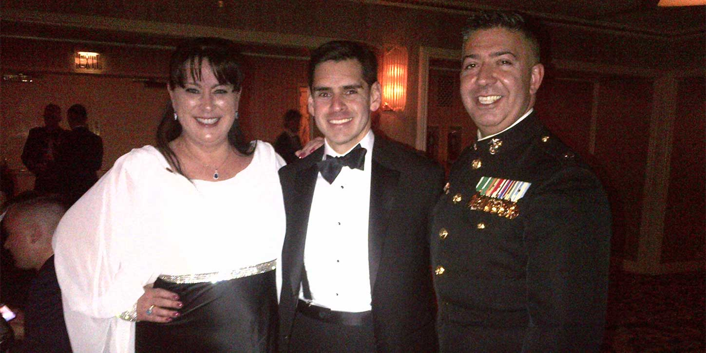 JLL's EJ McNeil, Steve Carlos and Dan Fernandes at the Marine Corps Law Enforcement Foundation Dinner